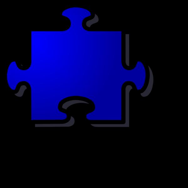 Blue Puzzle Piece PNG Clip art