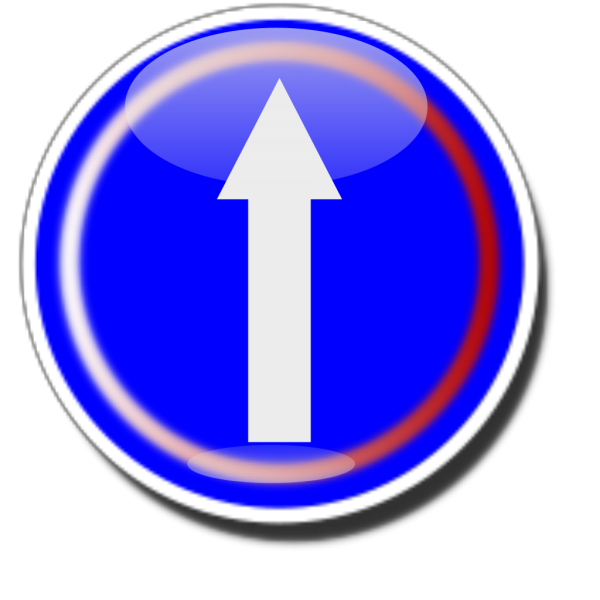 Straight Ahead Sign PNG Clip art