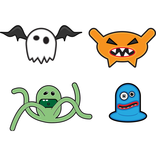 Cartoon Monsters 1 PNG icons