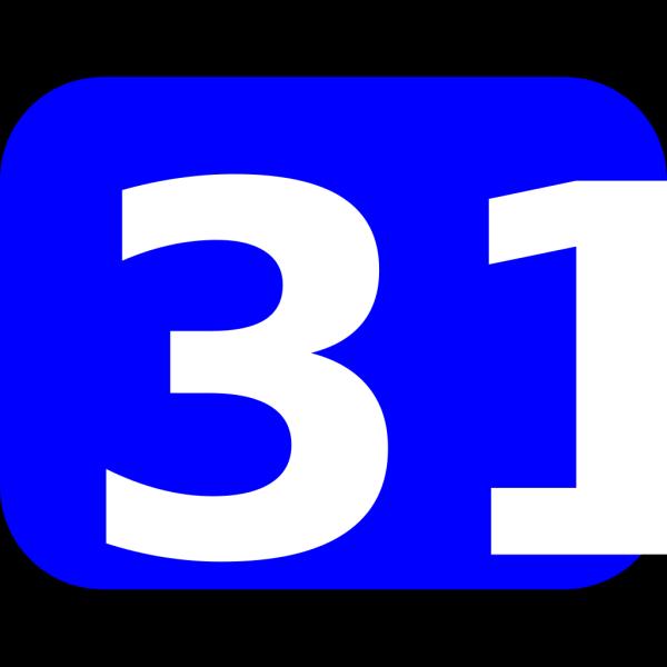 Number 31 PNG Clip art