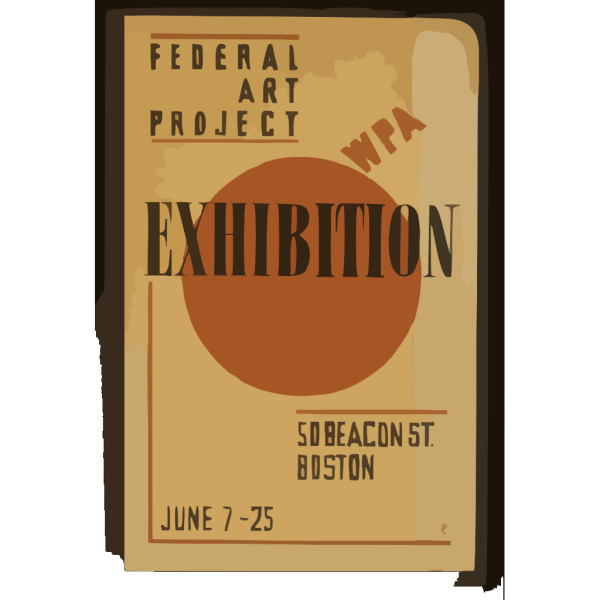 Exhibition - Wpa Federal Art Project  / Hg [monogram]. PNG Clip art