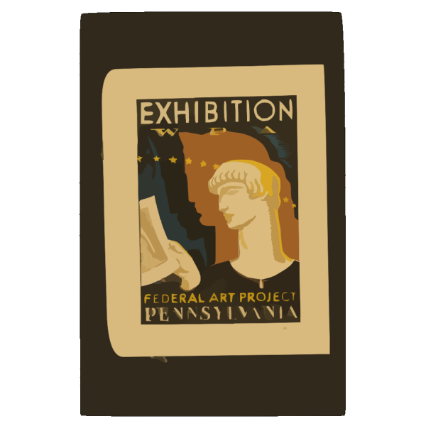 Exhibition Wpa Federal Art Project Pennsylvania / Milhous. PNG Clip art