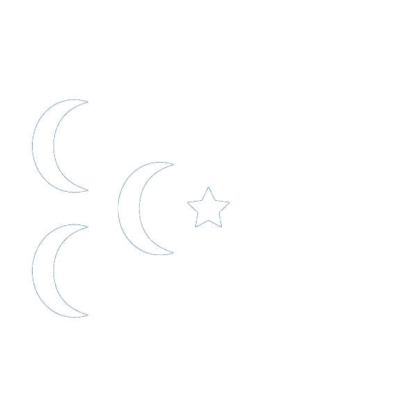 A Star And 3 Cresent Flag PNG clipart