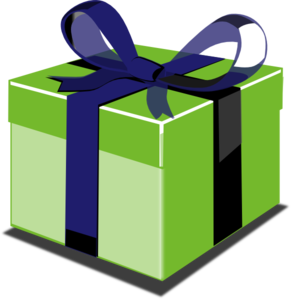 Blue Gift PNG Clip art