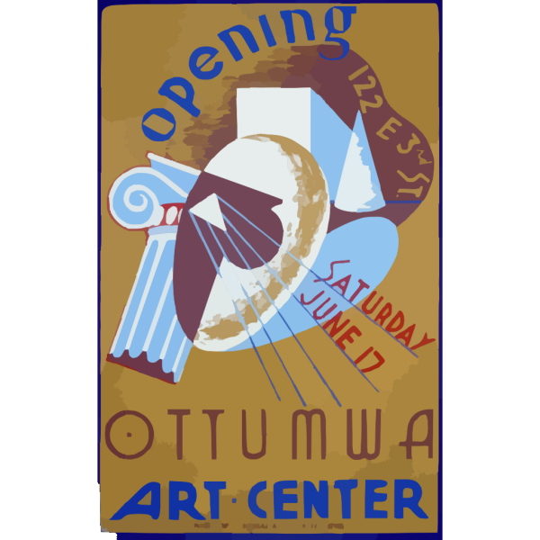 Opening Ottumwa Art Center, 122 E 3rd St. Saturday June 17