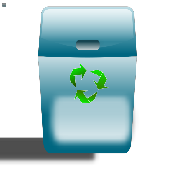Ronoaldo Blue Trash Can PNG Clip art