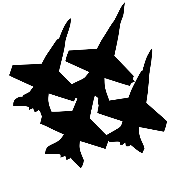 Blue Angels Formation 2 PNG Clip art