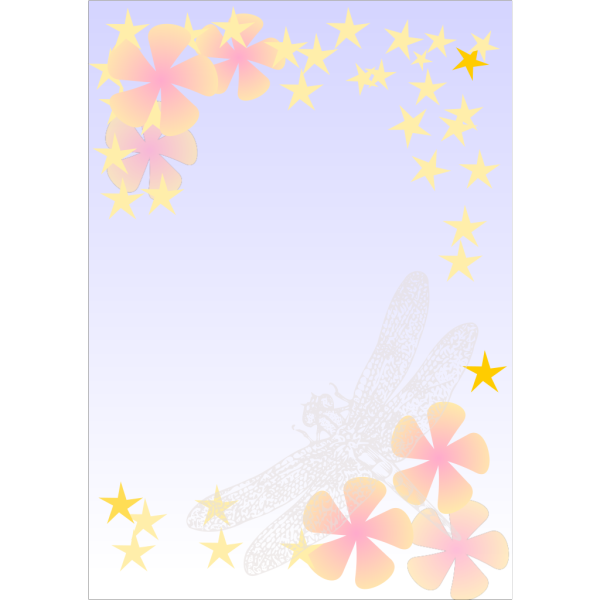 Kattekrab Dragonfly Notepaper PNG clipart