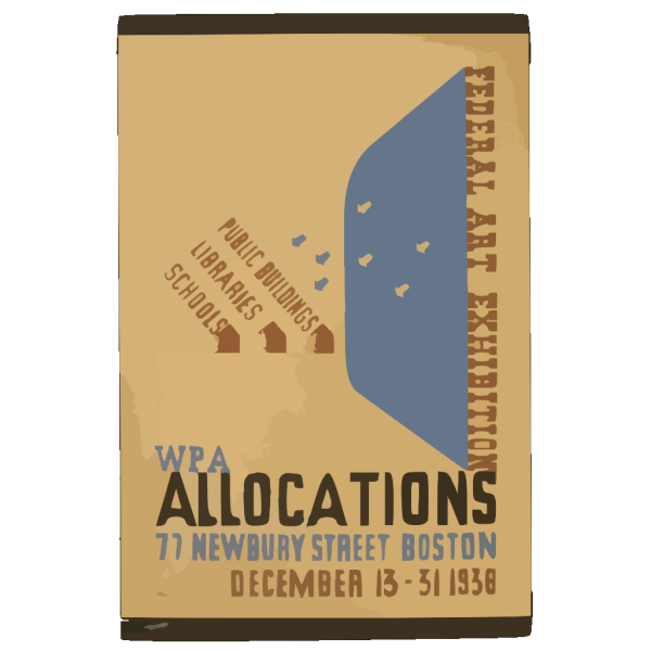 Federal Art Exhibition Wpa Allocations / Nason. PNG Clip art