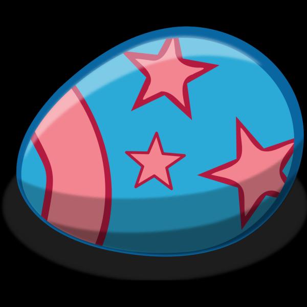 Blue Easter Egg PNG Clip art