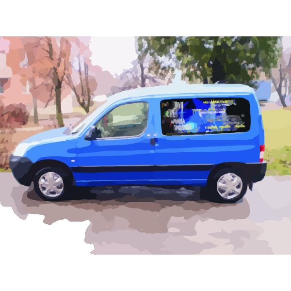 Blue Car Advertisement PNG Clip art