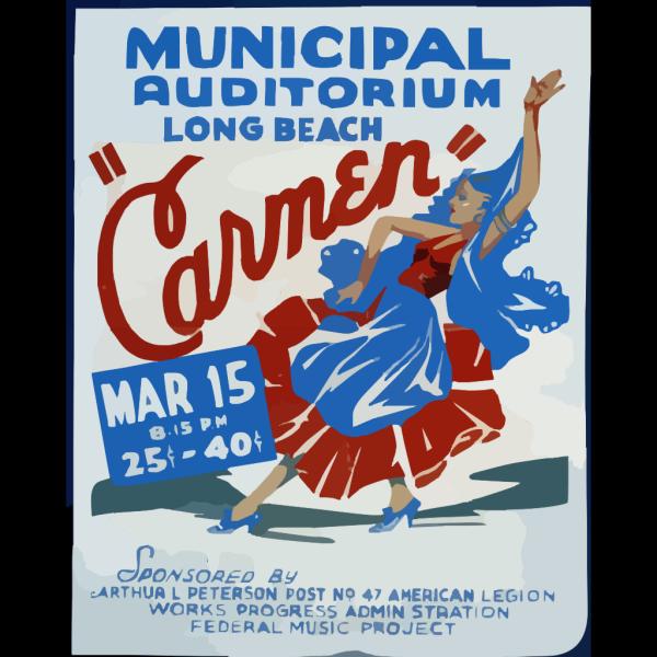 Carmen  Municipal Auditorium, Long Beach. PNG Clip art