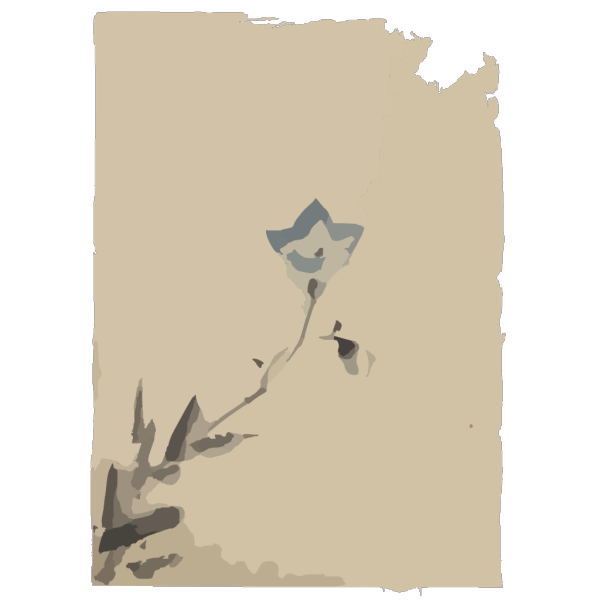 [blue Blossom At The End Of A Stem] PNG Clip art
