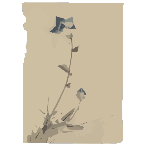 [blue Flower Blossom And Bud At The End Of A Stalk] PNG Clip art