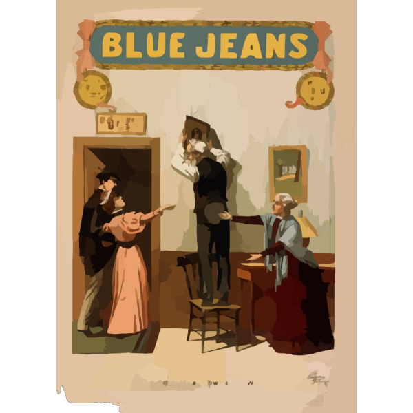 Blue Jeans  Will Never Wear Out  : Written By Joseph Arthur, Author Of  The Still Alarm.  PNG Clip art