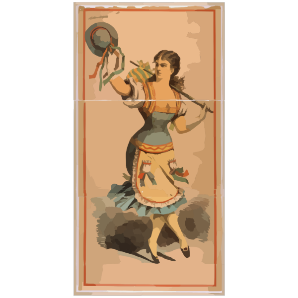 [dancing Chorus Girl With Cane And Blue Hat] PNG icon