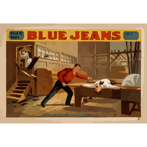 Blue Jeans  Will Never Wear Out  : By Joseph Arthur, Author Of  The Still Alarm.  PNG Clip art