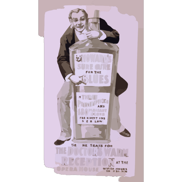 Howard S Sure Cure For The Blues In Three Prescriptions And 180 Pleasant Doses For Direction See Below : Secure Seats For The Doctor S Warm Reception At The Opera House, Office Hours, 8-to-10:30 P.m. PNG Clip art