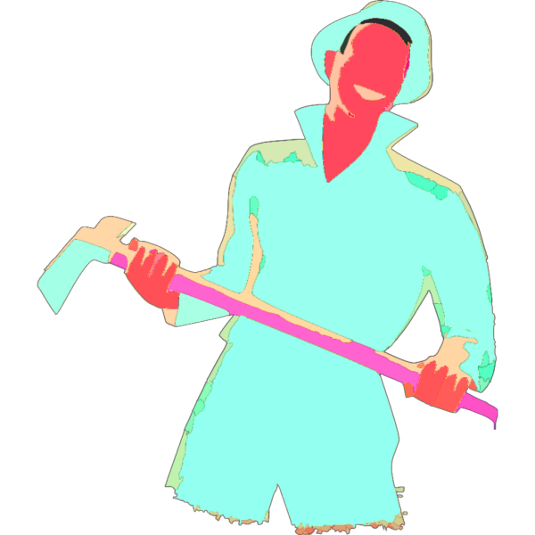 Farmer Holding Axe PNG images