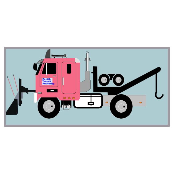 Tow Truck With Snow Plow PNG Clip art