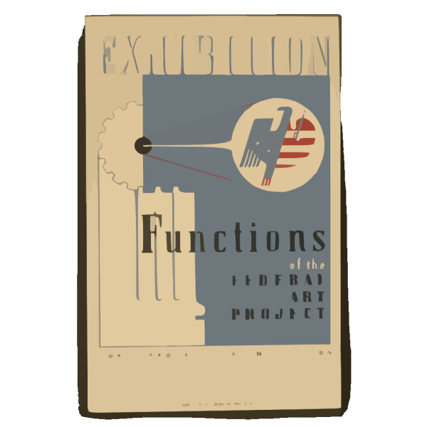 Exhibition Functions Of The Federal Art Project. PNG Clip art