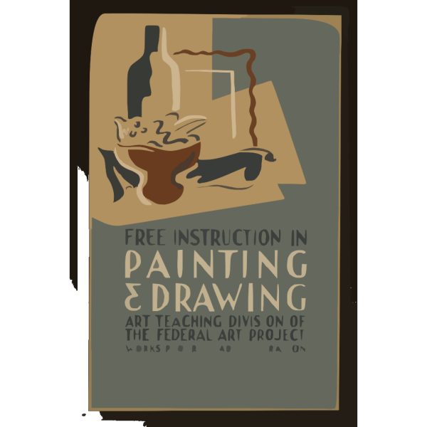 Free Instruction In Painting & Drawing Art Teaching Division Of The Federal Art Project, Works Progress Administration. PNG Clip art