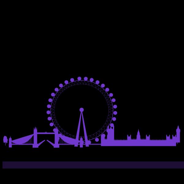 London Skyline PNG Clip art