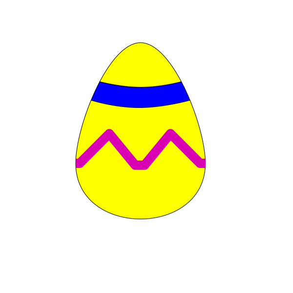 Easter Egg Yellow PNG Clip art