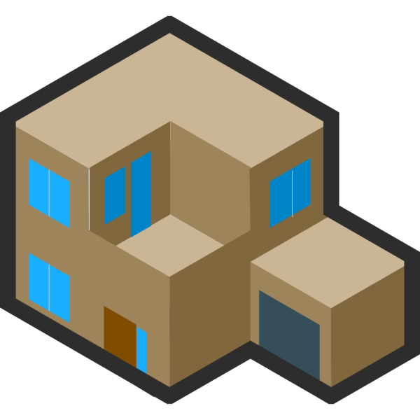 Isometric House PNG Clip art