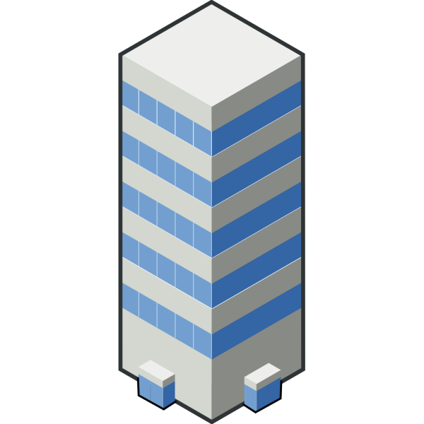Isocity Blue Tower Ii PNG Clip art