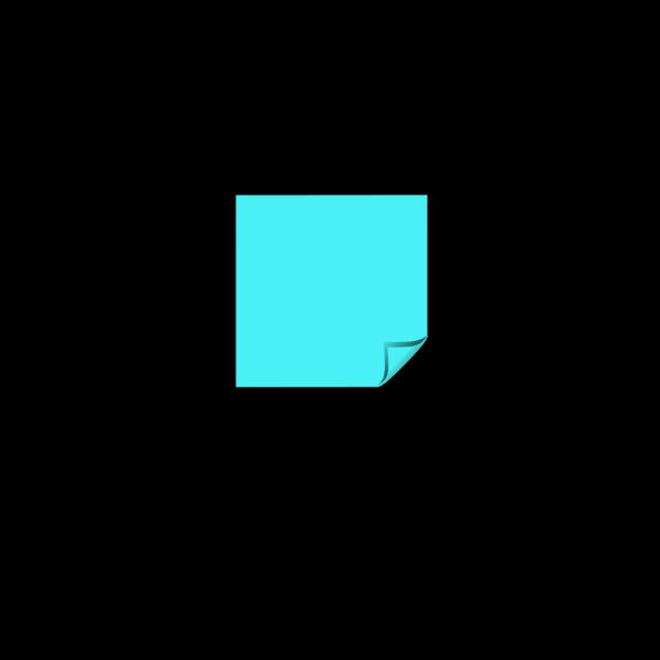 Sticky Note Blue Folded Corner PNG Clip art