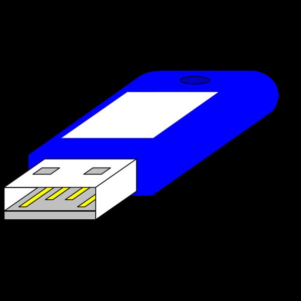 Usb Key / Pen Blue Connector Side PNG Clip art