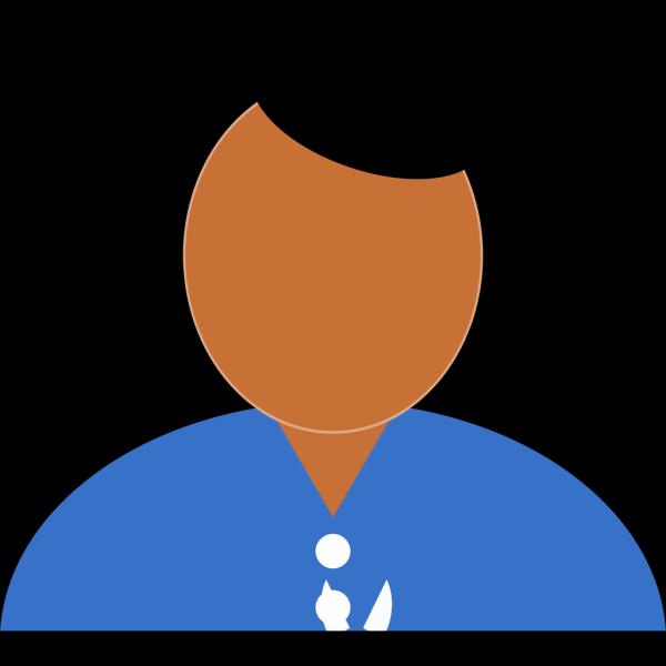 Man In Blue Shirt PNG Clip art