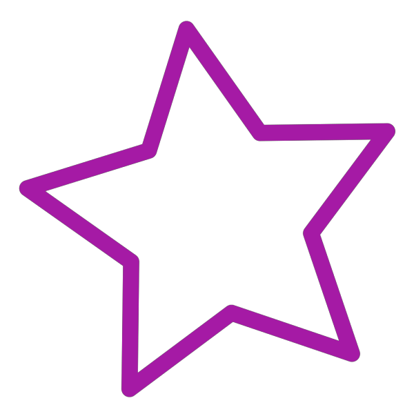 Stars Simple PNG Clip art