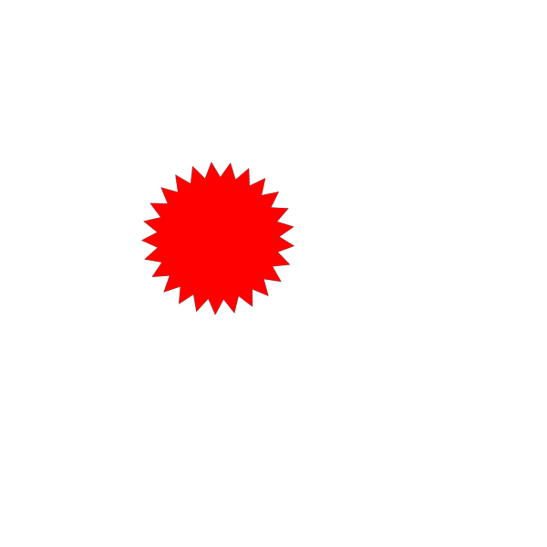 Red Gradient Star PNG image