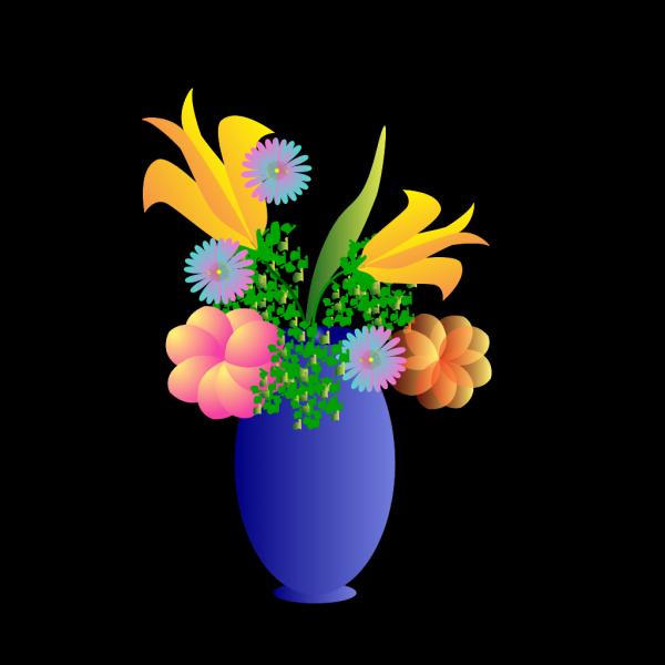 Blue Glass Vase PNG Clip art