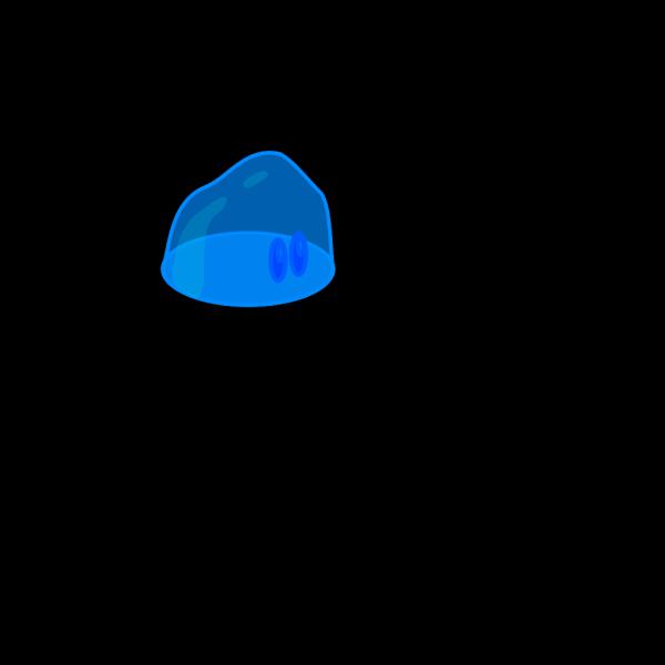 Blue Slime PNG Clip art
