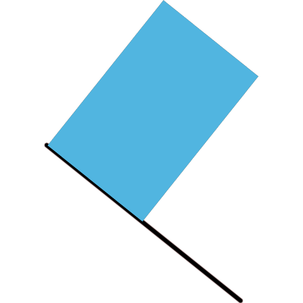 Blue Flag PNG icon