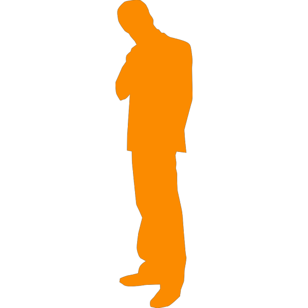 Thinking Man Silhouette PNG Clip art