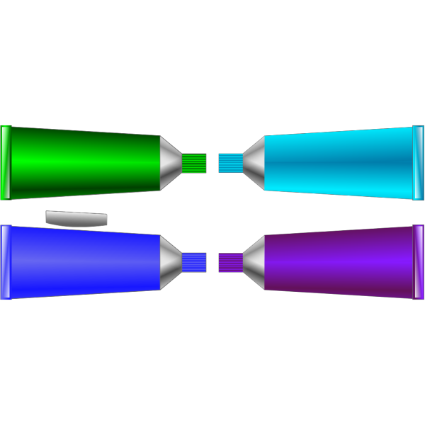 Color Tube Green Blue Purple Cyan PNG Clip art