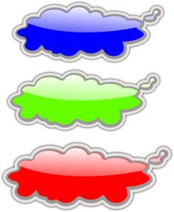 Glossy Clouds PNG Clip art