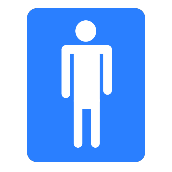 Men Bathroom Blue Sign PNG Clip art