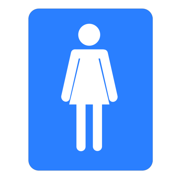 Women Bathroom Blue Sign PNG Clip art