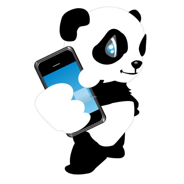 Panda With Mobile Phone PNG Clip art