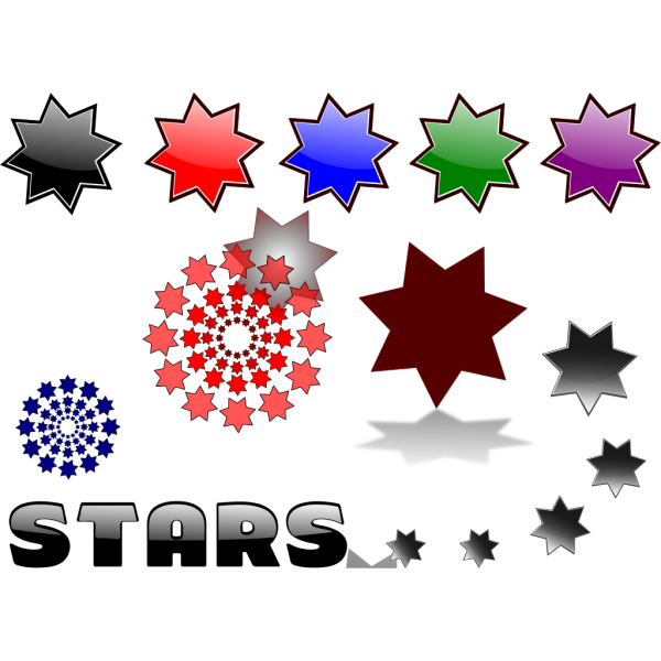Mixed Stars PNG Clip art