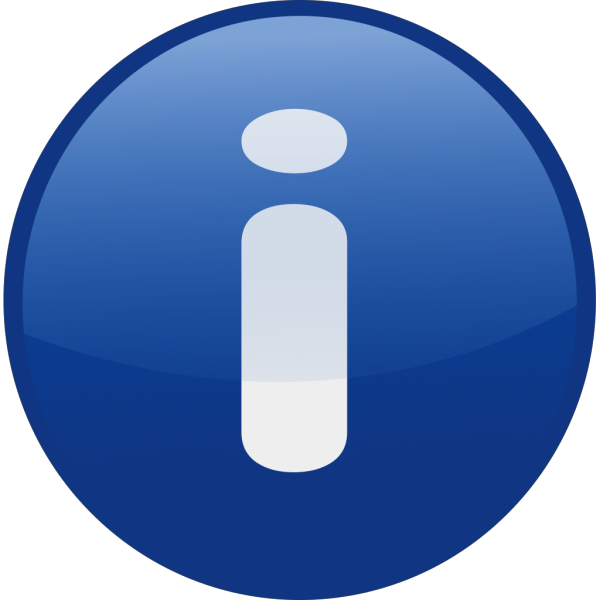 Blue Information Glossy Button PNG Clip art