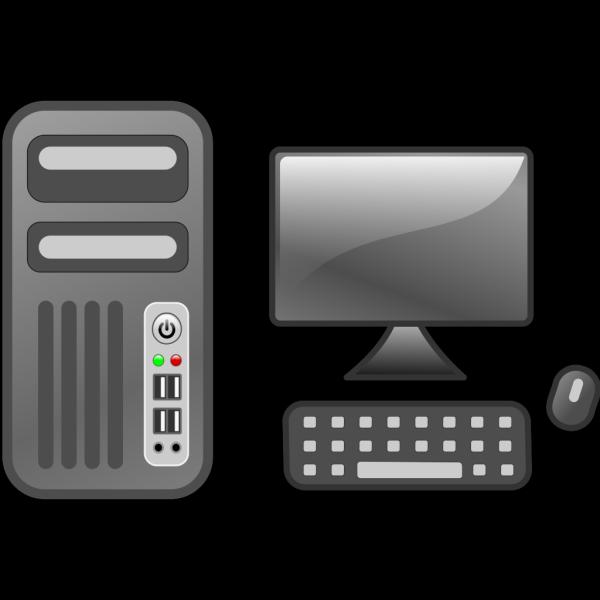 Blue Computer Desktop PNG Clip art