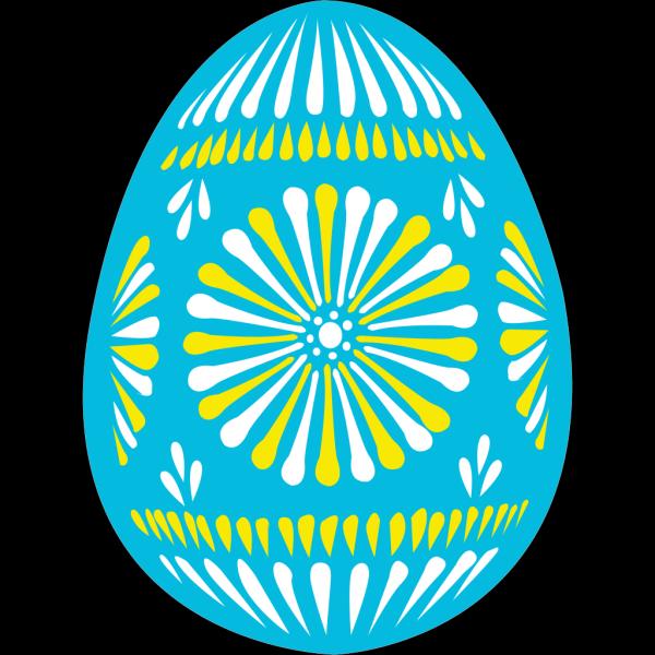 Easter Egg Blue PNG Clip art