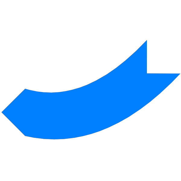 1280pxl Blue Curved Arrow PNG images