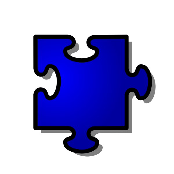 Blue Jigsaw Piece PNG icons